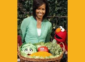 Michelle Obama with muppets 275x200