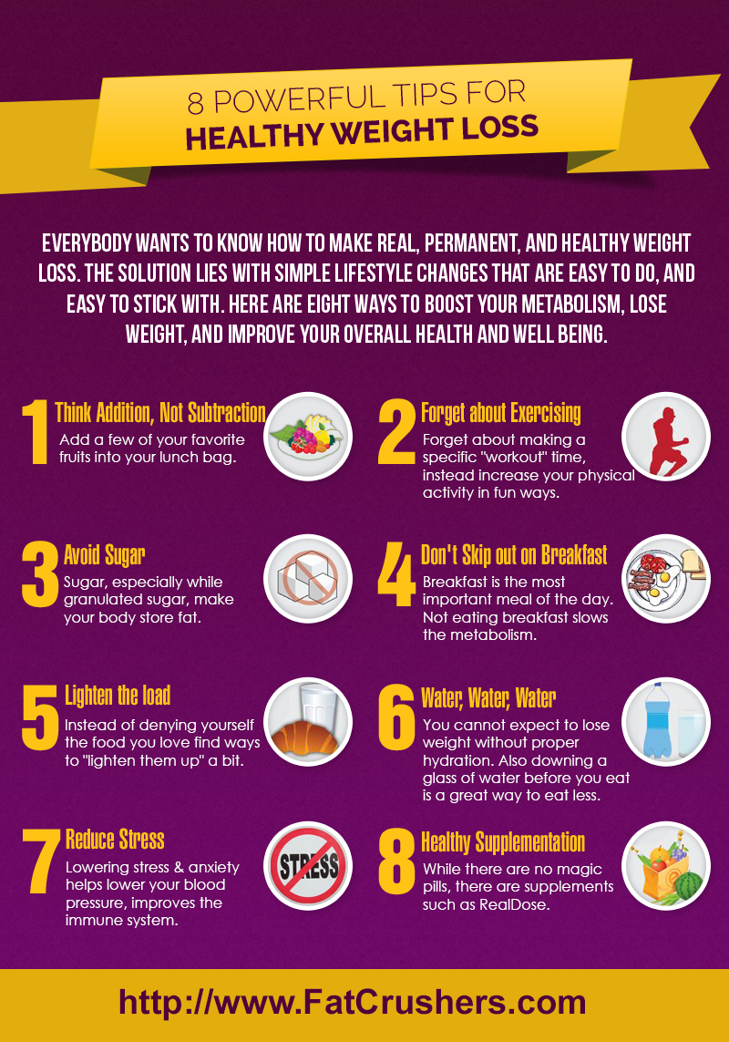 Infographic 8 Healthy Weight Loss Tips To Inspire You