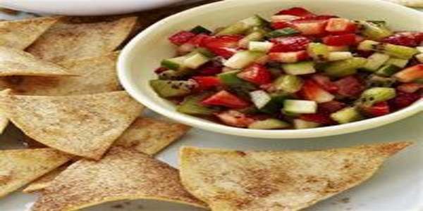 Cinnamon Chips With Strawberry and Avocado Salsa Recipe